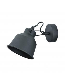 Kinkiet LAMPA ścienna FARO 1 industrialna RETRO regulowana kopuła metalowa NAD OBRAZ czarna