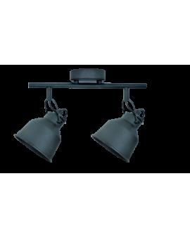 Plafon LAMPA sufitowa FARO 2 industrialna RETRO regulowana LOFT kopuła metalowa REFLEKTOR czarny