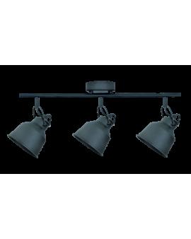 Plafon LAMPA sufitowa FARO 3 industrialna RETRO regulowana LOFT kopuła metalowa REFLEKTOR czarny