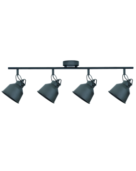 Plafon LAMPA sufitowa FARO 4 industrialna RETRO regulowana LOFT kopuła metalowa REFLEKTOR czarny