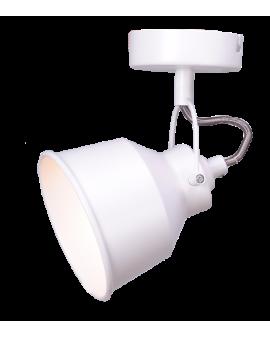 Kinkiet LAMPA ścienna sufitowa FARO 1 industrialna RETRO regulowana LOFT kopuła metalowa NAD OBRAZ biała