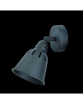 Kinkiet LAMPA ścienna sufitowa FIGA 1 industrialna RETRO regulowana LOFT kopuła metalowa NAD OBRAZ czarna