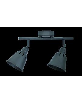 Plafon LAMPA sufitowa ścienna FIGA 2 industrialna RETRO regulowana LOFT kopuła metalowa REFLEKTOR czarny