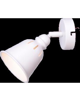 Kinkiet LAMPA ścienna sufitowa FIGA 1 industrialna RETRO regulowana LOFT kopuła metalowa NAD OBRAZ biała