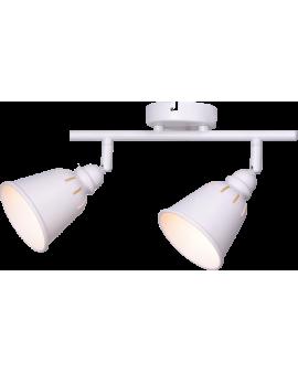 Plafon LAMPA sufitowa ścienna FIGA 2 industrialna RETRO regulowana LOFT kopuła metalowa REFLEKTOR biały