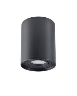 Spot LAMPA sufitowa HADAR ruchoma 1xGU10 OPRAWA natynkowa okrągła downlight tuba plafon czarny