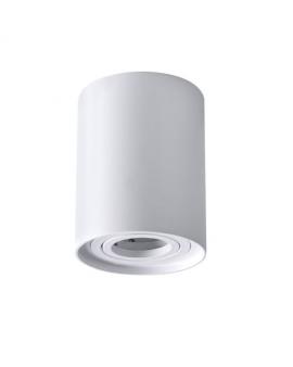 Spot LAMPA sufitowa DARK ruchoma 1xGU10 OPRAWA natynkowa okrągła downlight tuba plafon biały