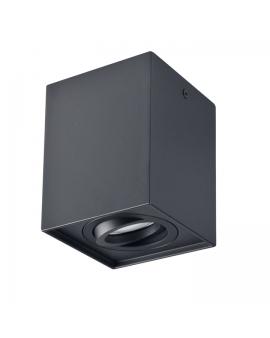 Spot LAMPA sufitowa HADAR ruchoma 1xGU10 OPRAWA natynkowa kwadratowa downlight tuba plafon czarny