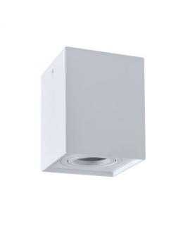 Spot LAMPA sufitowa DARK ruchoma 1xGU10 OPRAWA natynkowa kwadratowa downlight tuba plafon biały