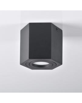 Spot LAMPA sufitowa DARK ruchoma 1xGU10 OPRAWA natynkowa heksagon downlight plafon czarny