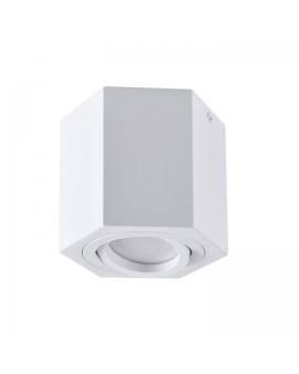 Spot LAMPA sufitowa DARK ruchoma 1xGU10 OPRAWA natynkowa heksagon downlight plafon biały