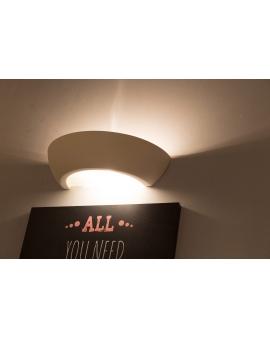 Kinkiet LAMPA ścienna ORBITA ceramiczna/gipsowa OPRAWA przyścienna okrągły biała światło góra/dół