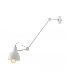 Kinkiet LAMPA ścienna AIDA WHITE 814PL/G metalowa OPRAWA regulowany reflektorek na wysięgniku biała