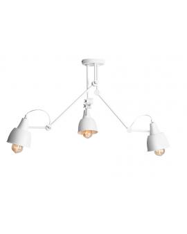 LAMPA sufitowa AIDA WHITE 814PL_E metalowa OPRAWA regulowane reflektorki na wysięgnikach białe