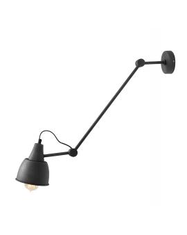 Kinkiet LAMPA ścienna AIDA GREY 814PL/G19 regulowana OPRAWA przeguby metalowy reflektorek na wysięgniku grafitowa