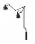 Kinkiet LAMPA ścienna AIDA GREY duży 814D19 lampka na ścianę z kablem regulowane ramiona na wysięgniku z regulacją grafitowy