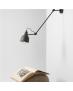 Kinkiet LAMPA ścienna AIDA GREY 814PL_G19 regulowana OPRAWA przeguby metalowy reflektorek na wysięgniku grafitowa