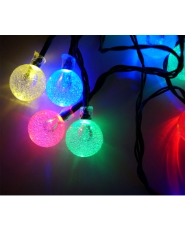 GIRLANDA Lampki Ogrodowe Solarne LED 20szt 4,9m MULTIKOLOR