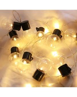 GIRLANDA Lampki Ogrodowe Solarne CLEAR LED 10szt 2m przezroczyste