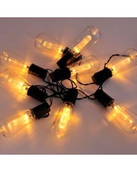GIRLANDA solarna Lampki Ogrodowe ozdobne żarówki EDISON świecące dekoracyjne LED łańcuch 10 lampek 2m