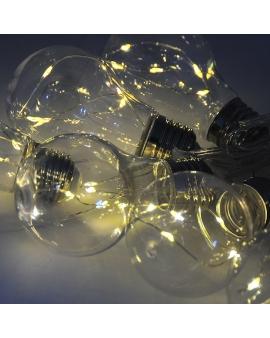 GIRLANDA na baterie Lampki Ogrodowe ozdobne żarówki świecące dekoracyjne LED łańcuch 10 lampek 2m
