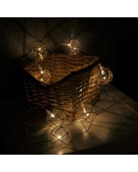 GIRLANDA na baterie Lampki Ogrodowe ozdobne żarówki sznur świecące dekoracyjne LED łańcuch 10 lampek 2,1m
