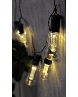 GIRLANDA na baterie Lampki Ogrodowe ozdobne żarówki EDISON świecące dekoracyjne LED łańcuch 10 lampek 2,1m