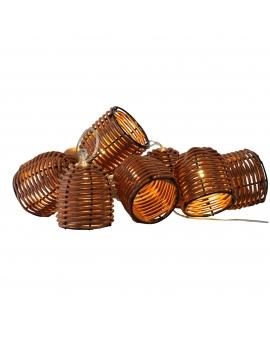 GIRLANDA na baterie Lampki Ogrodowe koszyczek ozdobne żarówki świecące dekoracyjne LED łańcuch 10 lampek 2,1m