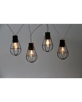 GIRLANDA na baterie Lampki Ogrodowe ozdobne żarówki LOFT świecące dekoracyjne LED łańcuch 10 lampek 2,1m