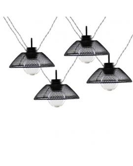 GIRLANDA na baterie Lampki Ogrodowe ozdobne żarówki świecące dekoracyjne LED łańcuch 10 lampek 2,1m