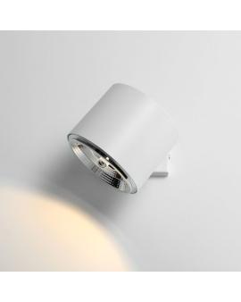 Kinkiet LAMPA sufitowa 1046C BOT 1xGU10 ALDEX czarna reflektorek MINIMALISTYCZNA oprawa spot TUBA biała