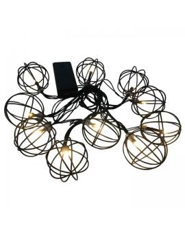 WYS. 24H! GIRLANDA na baterie Lampki Ogrodowe ozdobne żarówki LAMPION LOFT świecące dekoracyjne LED łańcuch 10 lampek 2,1m
