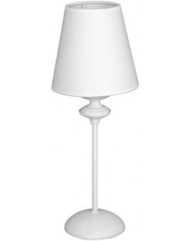 LAMPA stołowa ALDEX 932B RAFAELLO BIAŁY abażurowa LAMPKA stojąca biała