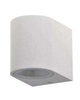 POLUX 313355 BOSTON Kinkiet ogrodowy zewnętrzny na LED 1x GU10 ALUMINIUM Biały owalny