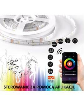 POLUX 313928 Taśma LED Wi-Fi TUYA Smart 5m 4000K + RGB IP65 funkcja muzyczna TUYA smart