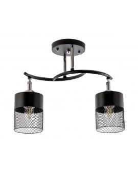 VENTIN N3656/2 BK Lampa sufitowa E27 szkło