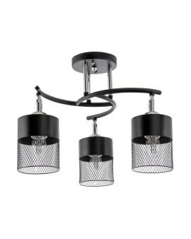 VENTIN N3656/3 BK Lampa sufitowa E27 szkło