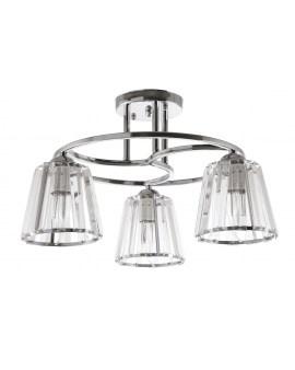 VENTIN N3456/3 CR Lampa sufitowa E27 szkło