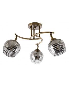 VENTIN N3655/3 AB Lampa sufitowa E27 szkło