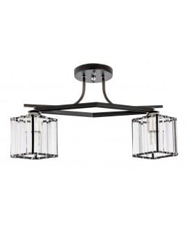 VENTIN N3582/2 BK Lampa sufitowa E27 szkło