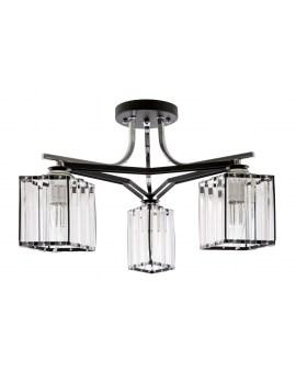 VENTIN N3582/3 BK Lampa sufitowa E27 szkło