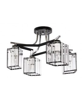 VENTIN N3582/4 BK Lampa sufitowa E27 szkło