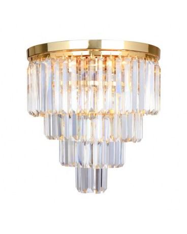 ZUMA FC17106/4+1 -GLD AMEDEO LAMPA sufitowa crystal glamour chrom przezroczysty