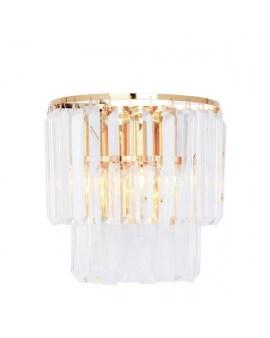 ZUMA 17106/2W-GLD AMEDEO LAMPA kinkiet kryształowa ŻYRANDOL crystal glamour złoty przezroczysty