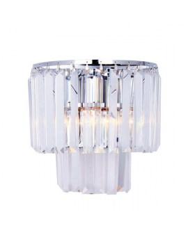 ZUMA 17106/2W-CHR AMEDEO Kinkiet LAMPA ścienna szklana OPRAWA glamour chrom przezroczysta