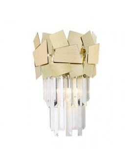 ZUMA W0506-02A-B5E3 QUASAR LAMPA ścienna szklane kryształki KINKIET kryształowy glamour crystals złoty przezroczysty