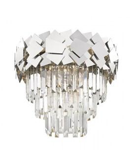 ZUMA C0506-06A-B5AC QUASAR LAMPA sufitowa ø48cm kryształowa szklane kryształki ŻYRANDOL crystal glamour Srebrny przezroczysty