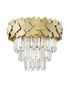 ZUMA C0506-06A-B5E3 LAMPA sufitowa ø48cm kryształowa szklane kryształki ŻYRANDOL crystal glamour Złoty przezroczysty