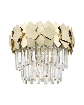 ZUMA C0506-06A-B5E3 QUASAR LAMPA sufitowa ø48cm kryształowa szklane kryształki ŻYRANDOL crystal glamour Złoty przezroczysty