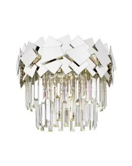 ZUMA C0506-05A-B5AC QUASAR LAMPA sufitowa ø41cm kryształowa szklane kryształki ŻYRANDOL crystal glamour Srebrny przezroczysty